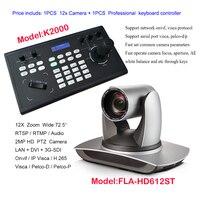 3G-SDI broadcast Farbe Video Konferenz PAN TILT ZOOM VISCA Kamera 12x Zoom Live-Streaming Web IP + Fernbedienung Tastatur