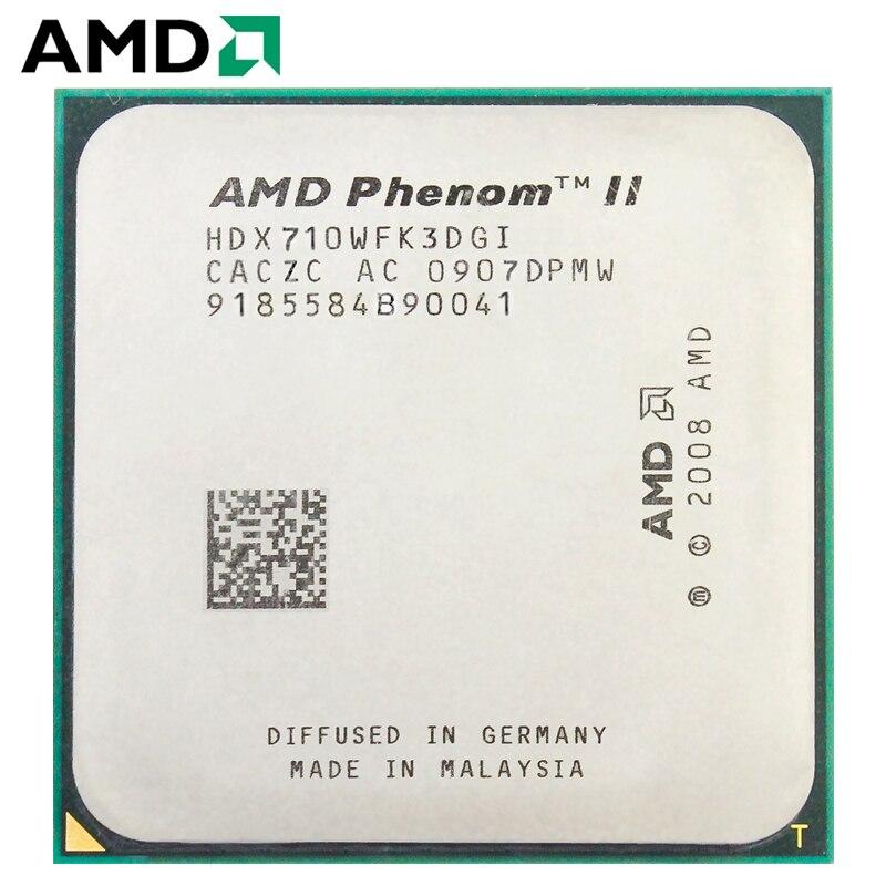 AMD Phenom II X3 710 HDX710WFK3DGI Triple-Core AM3 938 CPU 100% Working Properly Desktop Processor 2.4GHz 95W Socket AM3