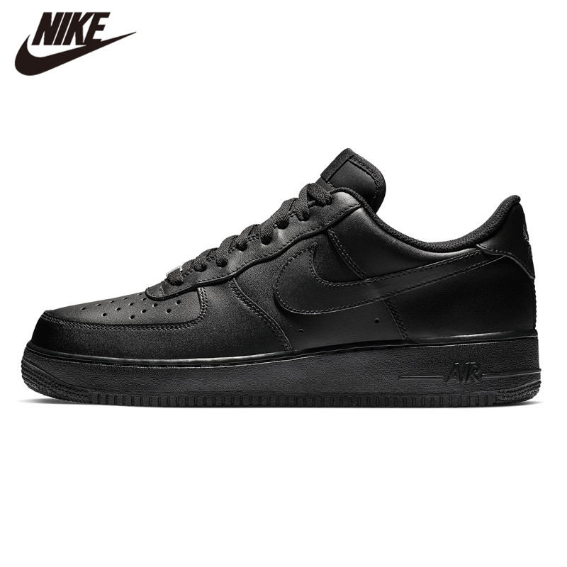NIKE AIR FORCE 107 AF1 White Running Shoes Retro Black Classic Sneaker