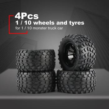 New 4Pcs 130mm 10 Contour Dump Fetal Flower Off-road Wheel Rim and Tires for 1/10 Monster Truck Racing RC Car Accessories 2020 4pcs 2pcs 150mm wheel rim and tires for 1 8 monster truck traxxas hsp hpi e maxx savage flux racing rc car accessories hot