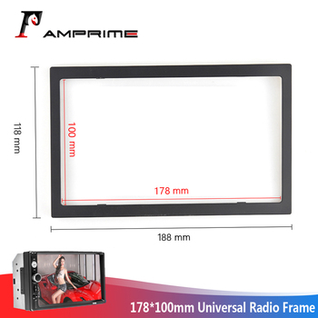 AMPrime Android radio Car Accessories 2Din Radio ABS Plastic Framework Car Multimedia Player For Universal 7010B/7023B/7018B image