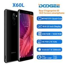 DOOGEE X60L 5.5 ''pollici 2GB + 16GB 4G LTE Smartphone Dual Camera 13.0MP Android 7.0 MTK6737V 3300mAh di impronte digitali Del Telefono Mobile