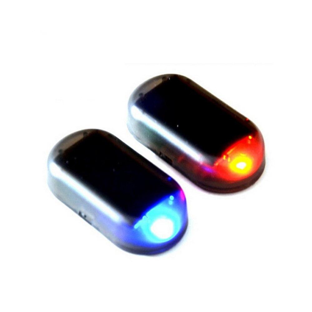 Solar USB Power Simulation Car Alarm Light Anti-Theft Warning Flash Blinking Fake Car Led Light Flash Blinking Lamp Car Interior