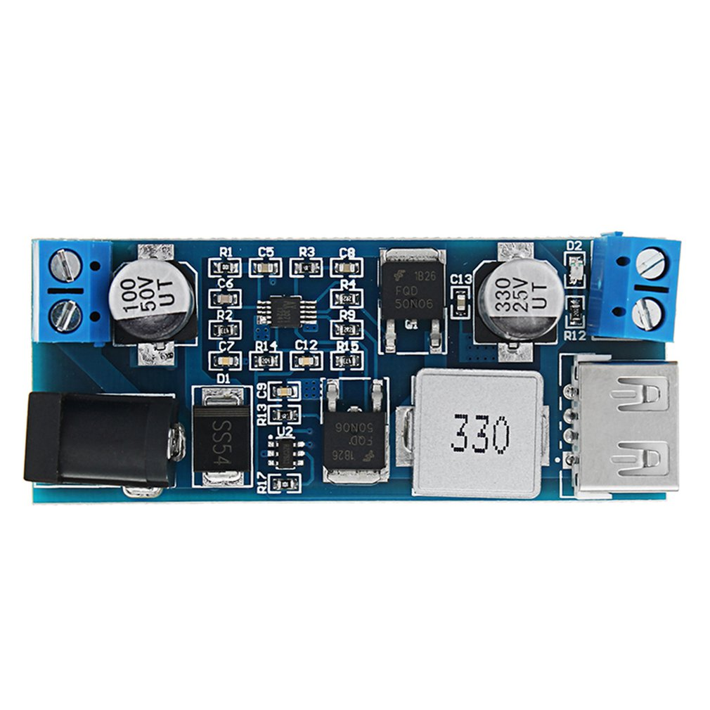 5V Vehicle Power DC Transformer Blue Hardware High-tech Module Development Board Exquisitely Designed Durable