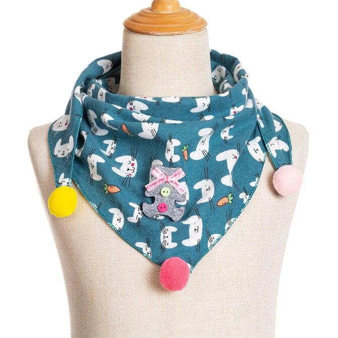 Весенние клетчатые треугольные шарфы в горошек для маленьких девочек; осенне-зимняя шаль для мальчиков и девочек; Детские хлопковые воротники; теплый детский шейный платок - Цвет: A4