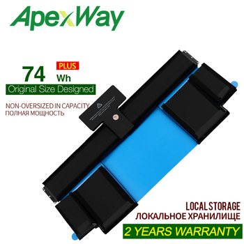 ApexWay 11.21V 74Wh laptop battery A1437 for APPLE MacBook Pro 13 Retina A1425 (end of 2012) 020-7653-A new original a1425 complete lcds for apple macbook pro retina 13 3 a1425 lcd screen display assembly full assembly 2012 year