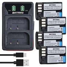 Batmax D-LI90 D-Li90 bateria + led carregador duplo com tipo c porto para pentax K-7 K-7D K-5 K-5 ii 645d k01 K-3 K-3 ii 645z l15