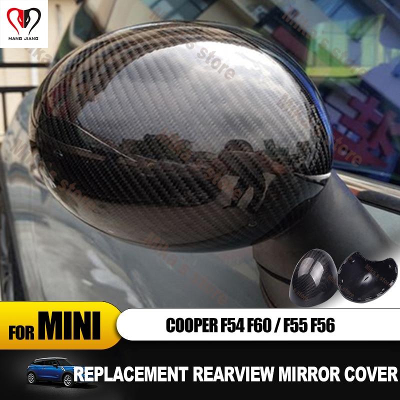 Remplacement pour Mini Cooper F54 F55 F56 F60 extérieur rétroviseur couvercle capuchon coque en fibre de carbone voiture autocollant accessoires