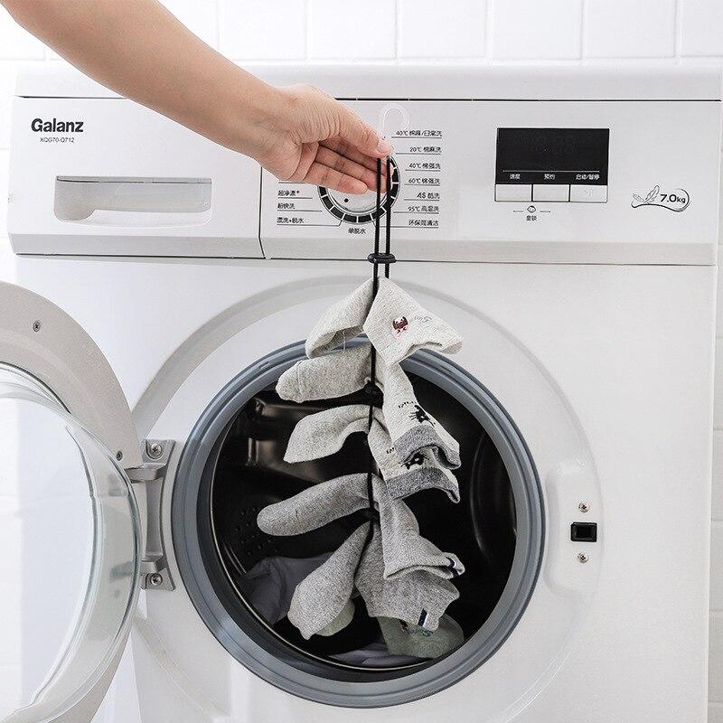 مفيدة تخزين الرف صافي الجوارب الحبل PP حبل الغسيل المنزلية لوازم المنزل علاّقات ملابس الجوارب تجفيف JJJRY814