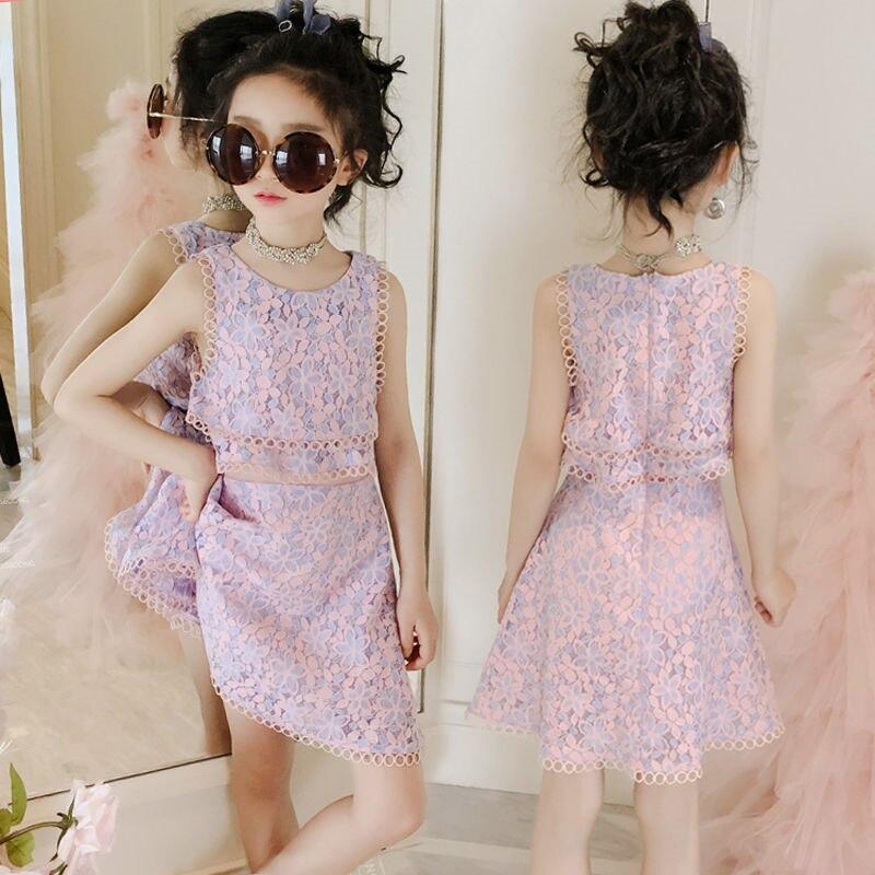 Girl's Elegant Summer Fleece Princess Sleeveless Tutu Dress Children Carnival Party Kids Spring Dresses For 6 8 10 12 Years Old