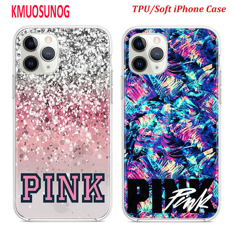 Silicone TPU Cover for iPhone 11 11Pro XS MAX XR X love pink girly pretty space for iPhone 8 7 6S 6 Plus 5S Phone Case