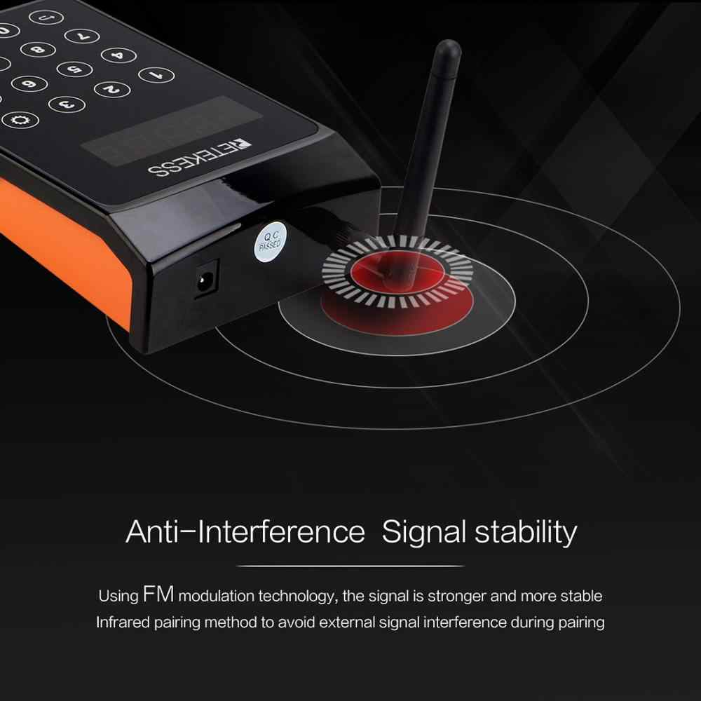 RETEKESS TD156 FM restaurant pager wireless calling system waiter pagers for restaurant coffee shop clinic queue equipment
