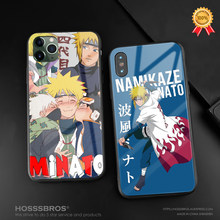 Minato Namikaze Naruto Anime untuk iPhone 6 6 S 7 7 Plus X XR X 11 Pro Max Lembut kaca Silikon Ponsel Case Shell Cover(China)
