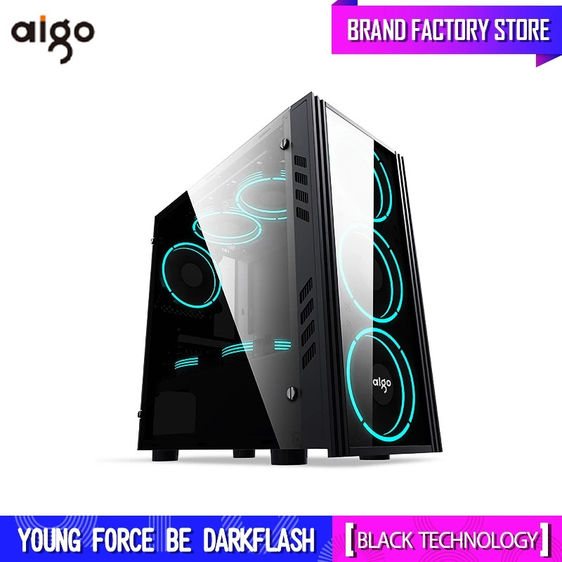 Computer-Case Pc Housing Chassis Gaming Pc Desktop Acrylic Microatx/itx Aigo Small Aluminum