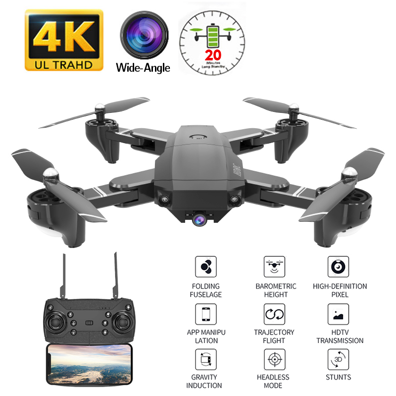 H13 RC 4K Drone With Wide-angle WiFi HD Camera Drone Profissional Gesture Photo 1080P RC Quadcopter Helicopter VS LF606 E58 GD89
