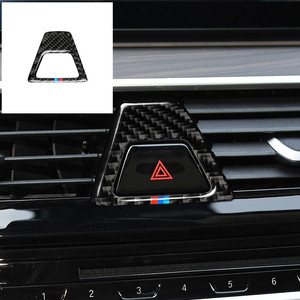 Image 1 - Carbon Fiber M Style Warning Light Button Covers Decal Decoration Car Interior Sticker for BMW 5 Series G30 G38 528i 530i 2018