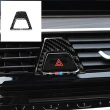 Fibre de carbone M Style voyant davertissement bouton couvre décalcomanie décoration voiture autocollant intérieur pour BMW série 5 G30 G38 528i 530i 2018