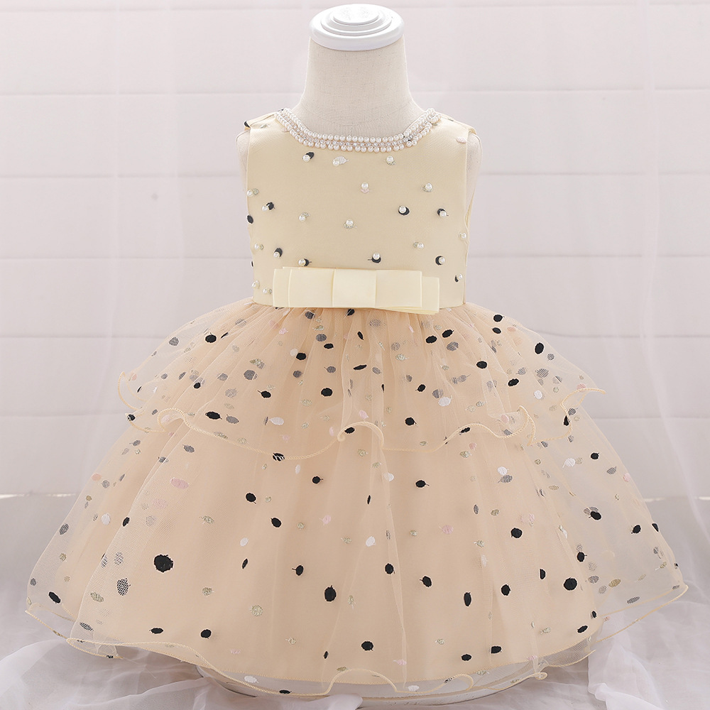 2019 Europe And America Polka Dot Infants Baby BABY'S FIRST Month CHILDREN'S Dress Baby Dress Cotton Lining Flower Boys/Flower G