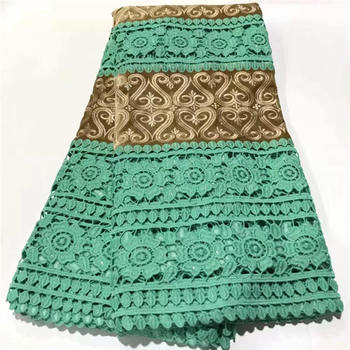 2020 African Lace Fabric High Quality French Tulle Lace Fabric Green Nigerian Laces Guipure Embroidery Fabric For Wedding