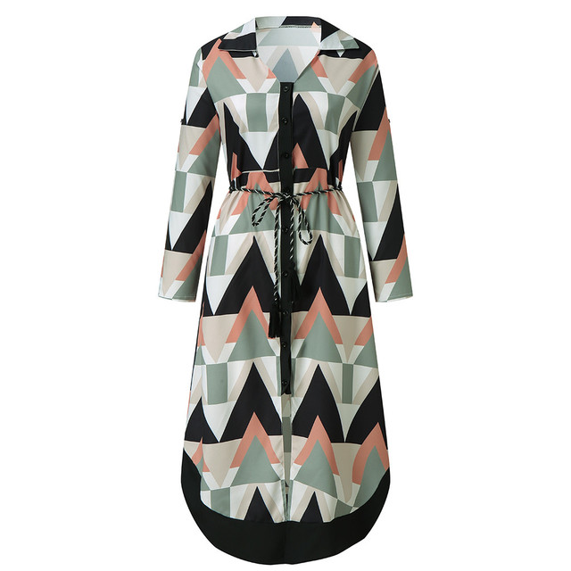 2021 Fashion Women Holiday Style Feminino Print Casual Plus Size Ladies Dress Elegant Day Dress Summer Sexy V-Neck Knitwear Robe 4