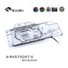 Bykski Su Bloğu için AMD Radeon RX 5700/5700XT GPU Kart/Tam Kapak Bakır Radyatör Blok/ 3PIN 5V A RGB/4PIN 12V RGB