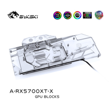 Bykski Water Blok gebruik voor AMD Radeon RX 5700/5700XT GPU Kaart/Full Cover Koperen Radiator Blok/ 3PIN 5V A RGB/4PIN 12V RGB