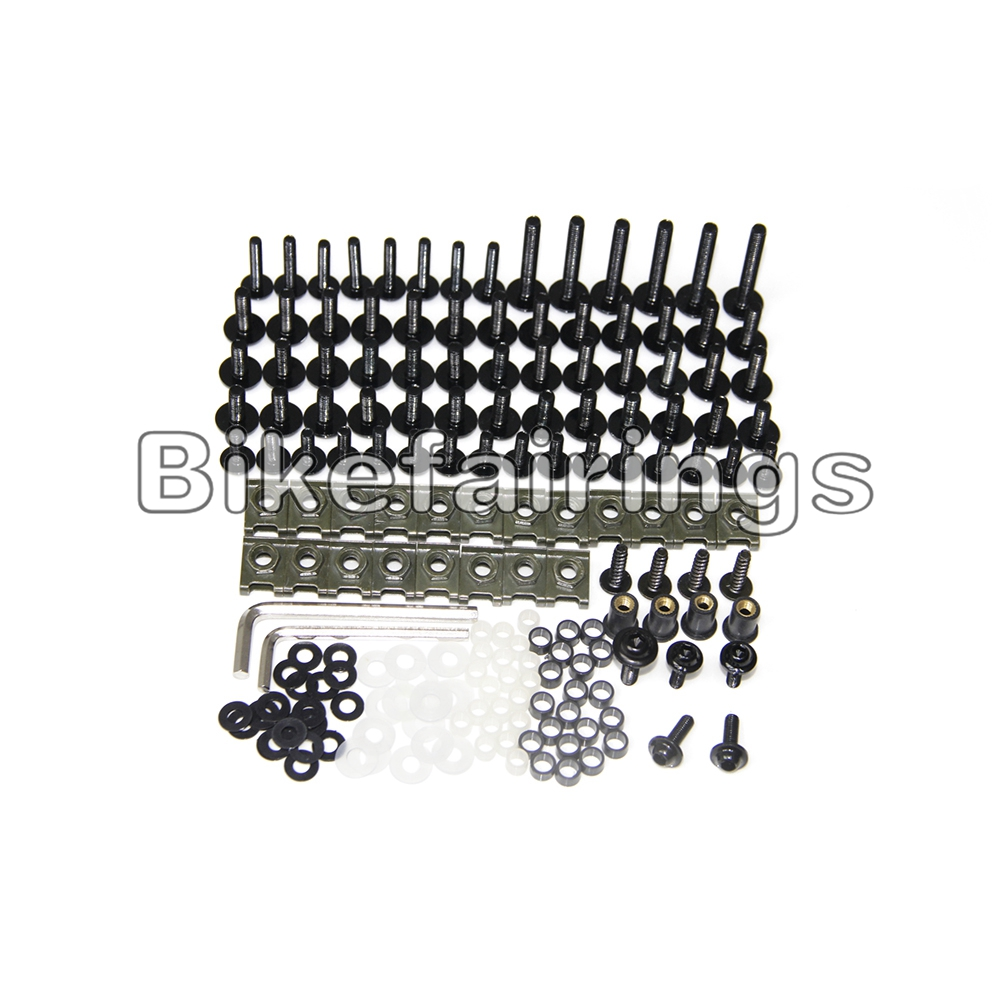 WYNMOTO Complete Motorcycle Bodywork Aluminum Fasteners Bolt Kits For Suzuki GSXR1300 Hayabusa 1997 1998 1999 2000 2001 2002 2003 2004 2005 2006 2007 Fairings Screws Hardware Clips Gold
