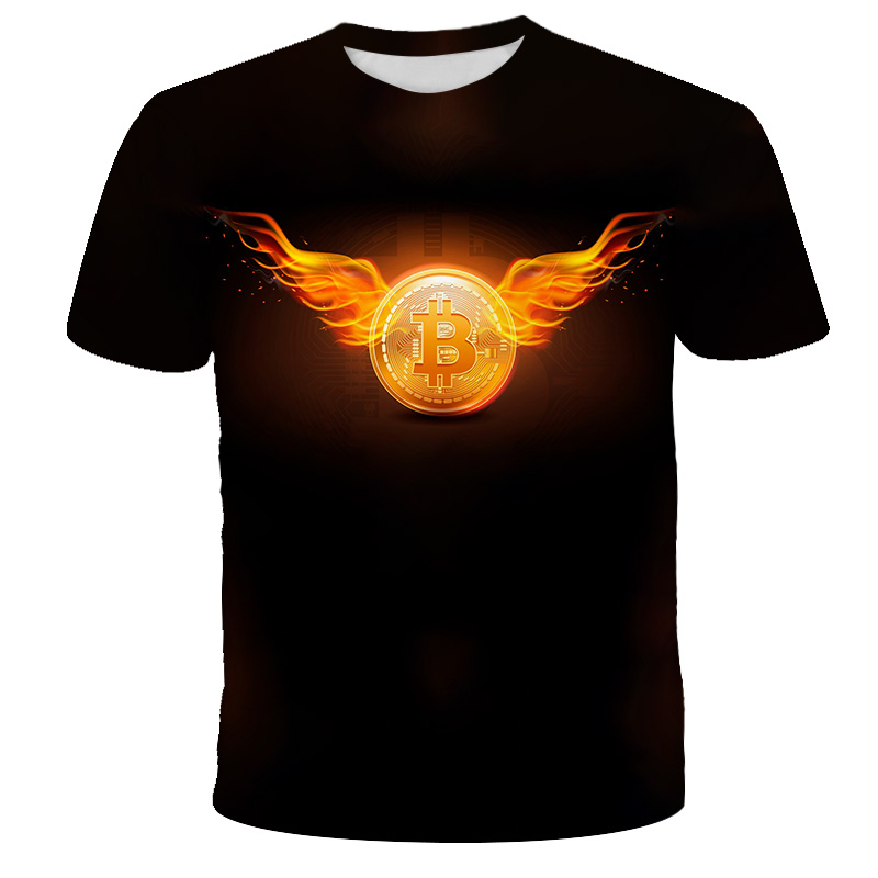 Bitcoin RevolutIon Tshirt Bitcoin CRYPTO SHIRT - CRYPTO CURRENCY Boys Girls T-Shirts Cool Casual Fashion 3D Baby Kids Clothes 1