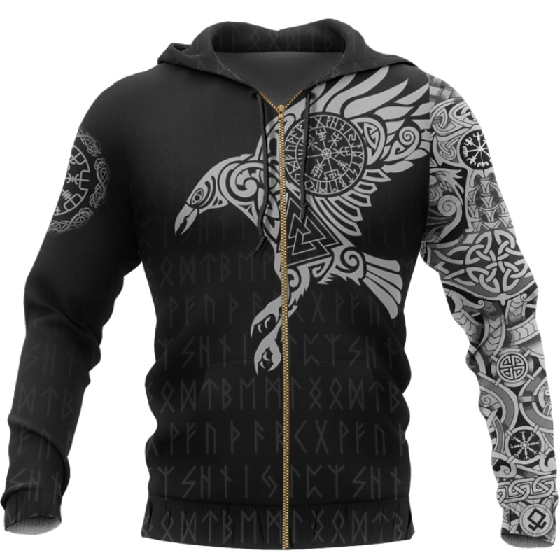 The Raven of Odin Viking 3D Printed Hoodie 16