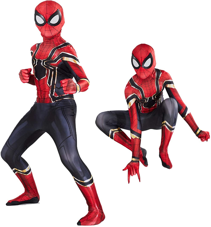 Детский костюм на Хэллоуин, совместимый костюм паука, костюм супергероя, детский костюм для костюмированной вечеринки, 3D Стиль, лучшие пода...