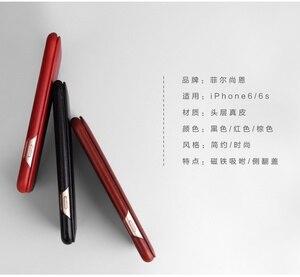 Image 5 - 100% 本物leanther iphone 6 6s 7 8プラスse 2020 × xr xs 11プロマックス12内蔵マグネットリアルレザーケース