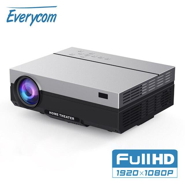 جهاز عرض حقيقي فائق الدقة بشاشة LCD من العلامة التجارية ايفركوم T26L جهاز عرض فيديو 1080P 5500 لومن جهاز عرض LED للمسرح المنزلي خيار HDMI واي فاي متعاطي المخدرات