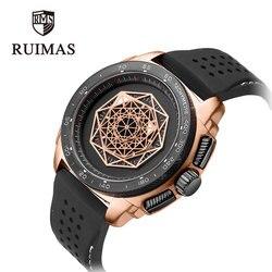 RUIMAS nowe mody mężczyzna zegarka Top luksusowej marki wzrosła Lumious zegarek sportowy wojskowy wodoodporna armia guma mężczyzna zegar prezent