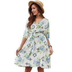 Оригинальный дизайн женское платье Amazon Лидер продаж 2019 новые летние Продукты печатные бинты ткани платье для хипстера
