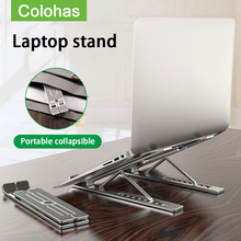 Laptop-Stand Notebook-Support Lapdesk Foldable Macbook Pro Cooling-Pad Aluminum for 11-17inch