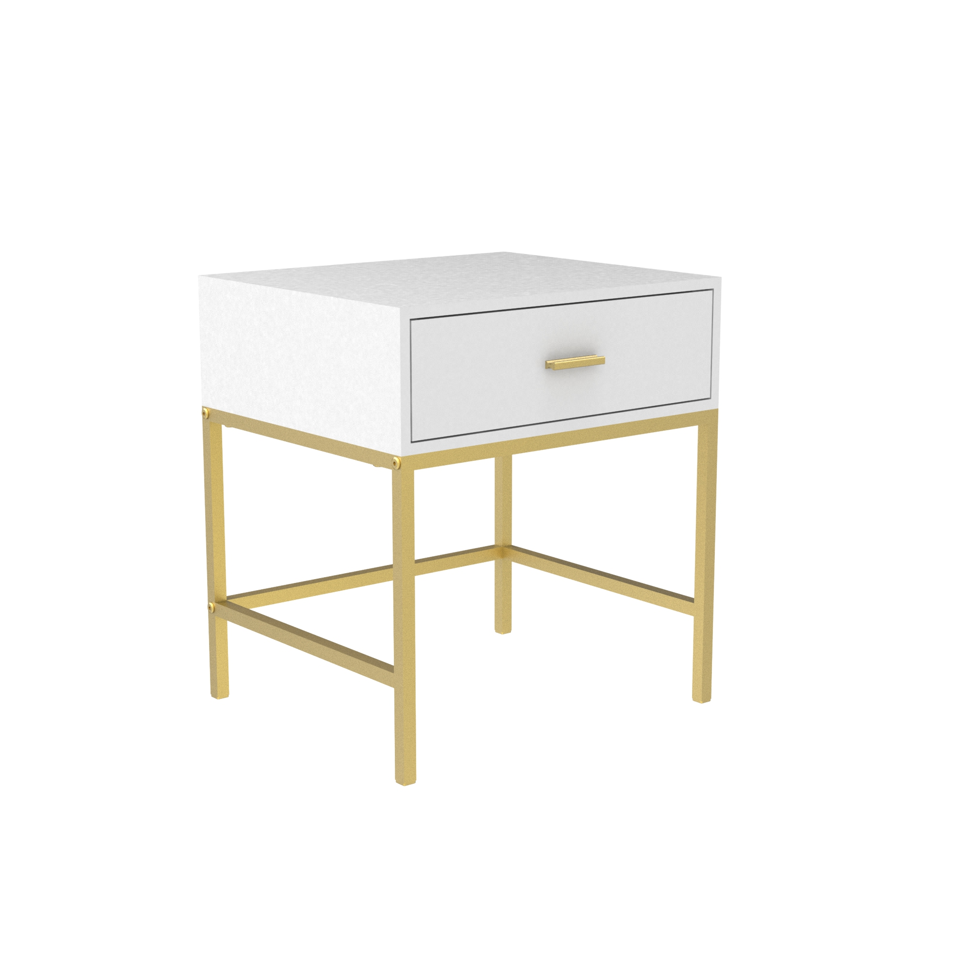 Nordic Ins Nanogold Foot Bedside Table With Drawers Modern Minimalist Metal Cabinet Bedroom Night Stand Side Table Free Shipping