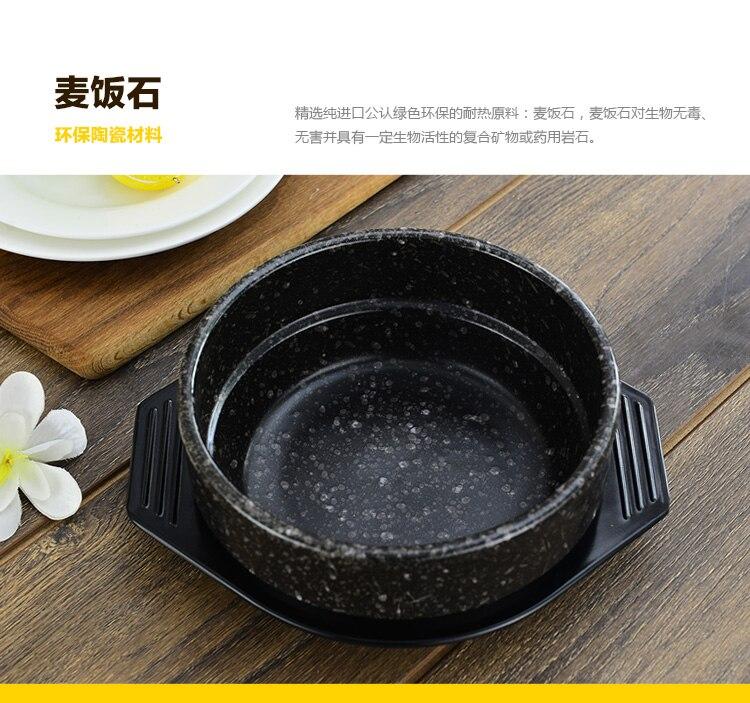 coreana pequena sopa arroz macarrão panela panela panela de barro cozinhar