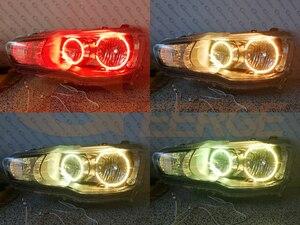 Image 4 - RF عن بعد بلوتوث APP متعدد الألوان الترا برايت RGB LED عيون الملاك عدة لميتسوبيشي لانسر X 10 2007 2016 مصباح هالوجين