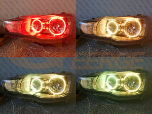 Image 4 - RF remote Bluetooth APP Multi Color Ultra bright RGB LED Angel Eyes kit For Mitsubishi Lancer X 10 2007 2016 Halogen headlight