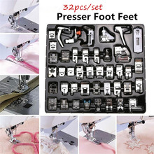 VOGVIGO 32/42pcs Mini Sewing Machine Presser Foot Feet for Brother Singer Janome Presser Feet Braiding Blind Stitch Darning 62pcs mini sewing machine presser foot feet for brother singer janome presser feet braiding blind stitch darning accessories