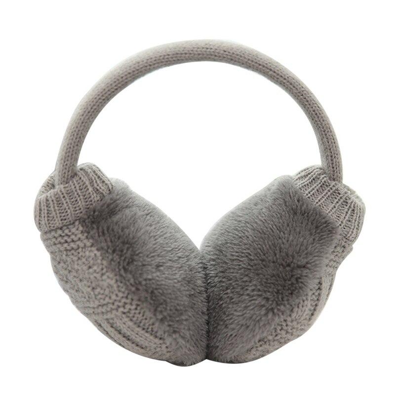 Зимние Наушники унисекс, плотные зимние теплые вязаные наушники для мужчин Wo men s Earflap Earmuffs, съемные плюшевые наушники - Цвет: H