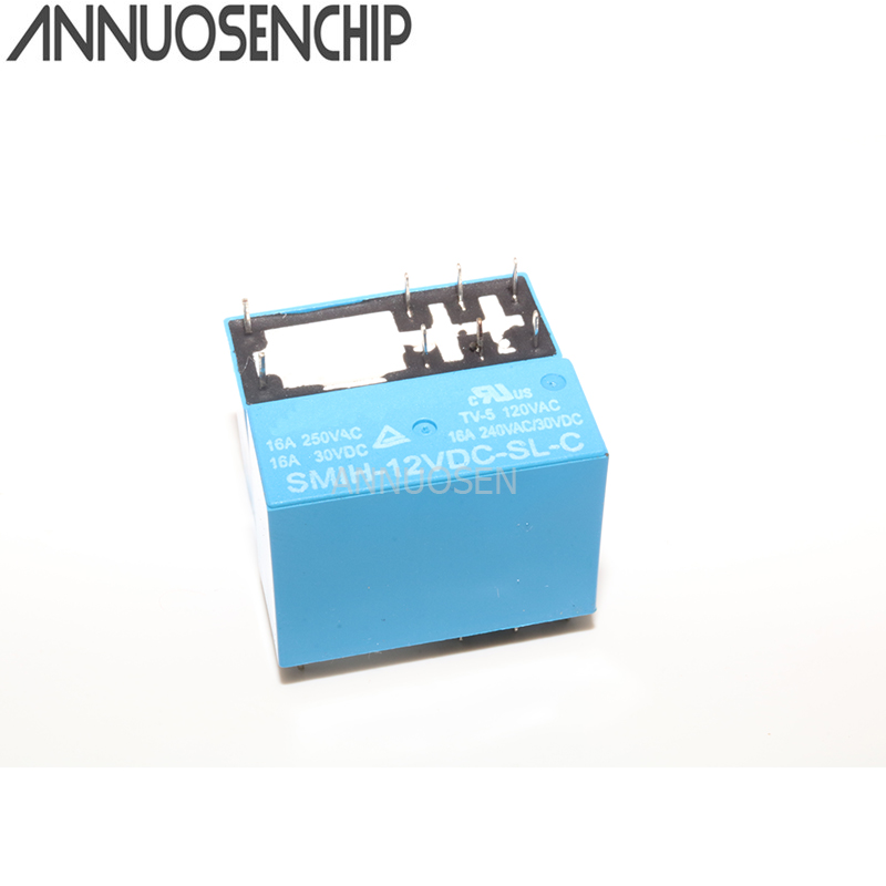 5PCS SMIH-05VDC-SL-C SMIH-12VDC-SL-C SMIH-24VDC-SL-C 05 <font><b>12</b></font> 24 V Relays <font><b>250V</b></font> <font><b>16A</b></font> 8PIN A group of normally open image