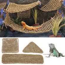 Réptil hammock algas lagarto lounger pet espreguiçadeira réptil brinquedo pendurado cama esteira barbudo dragões iguanas caranguejos hangning brinquedos