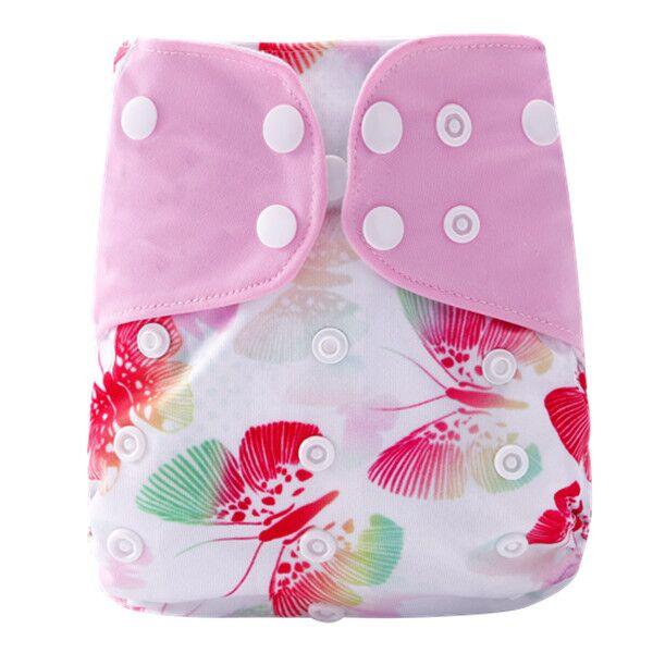[Simfamily] 1 шт. Многоразовые водонепроницаемые детские подгузники с цифровым принтом Один размер Карманные детские подгузники цена подходит для 3-15 кг - Цвет: NO29