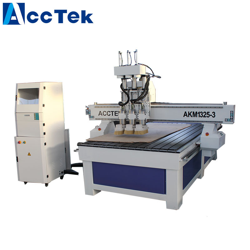 Multi Purpose 3d Wooden Furniture Chair Leg 3 Spindle Cnc Router With Helical Gear Rack Transmission