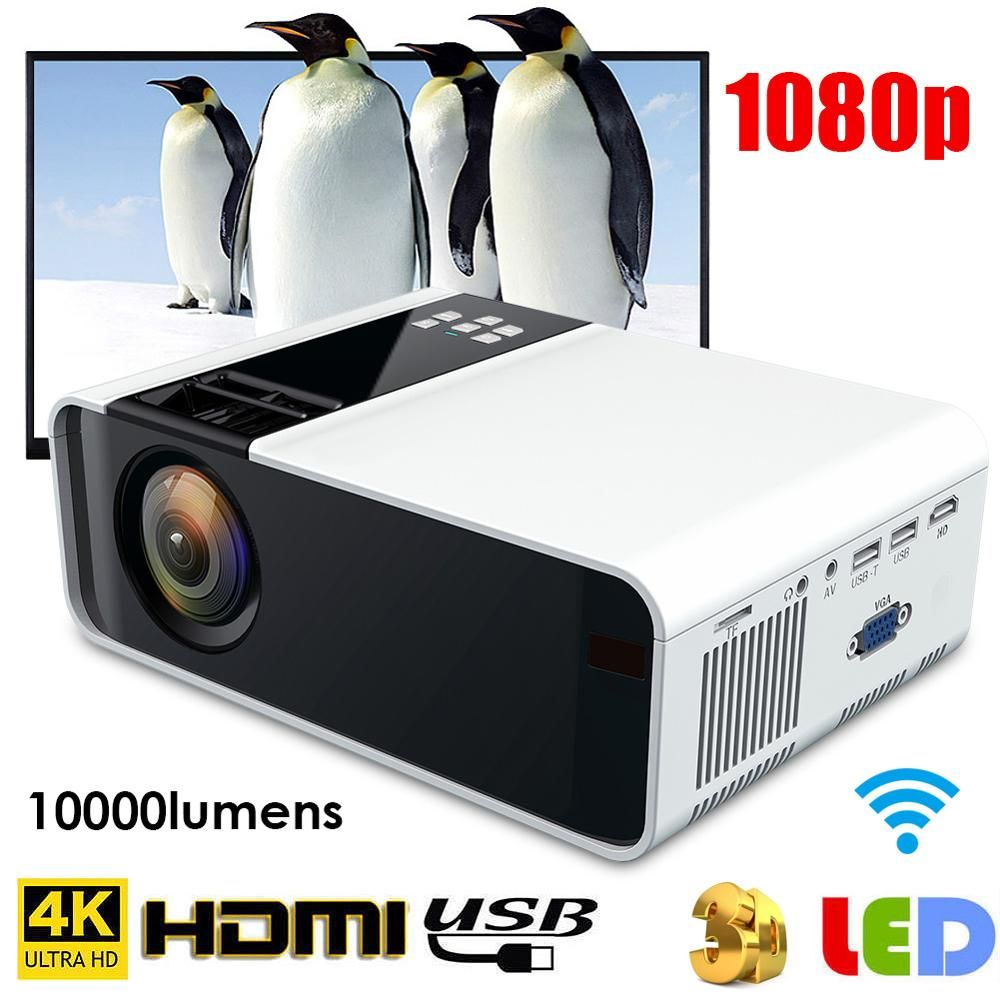 W10 4K WiFi Multimedia home theater Bluetooth 3D HD 1080P LED Projektor 1920*1080 HDMI <font><b>TV</b></font> hause kino 720p für Android <font><b>Proyector</b></font> image