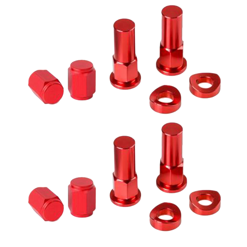 MagiDeal 12x Tire Valve <font><b>Stem</b></font> Rim Lock <font><b>Nut</b></font> Cap for Motorcycle Dirt <font><b>Bike</b></font> - Red image
