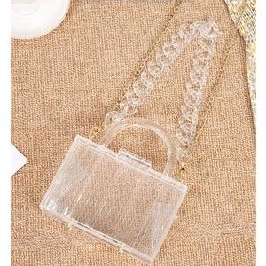 Handbags Top Handle Acrylic Box Clutch Purse Evening Shoulder Bag Wedding Party for Women