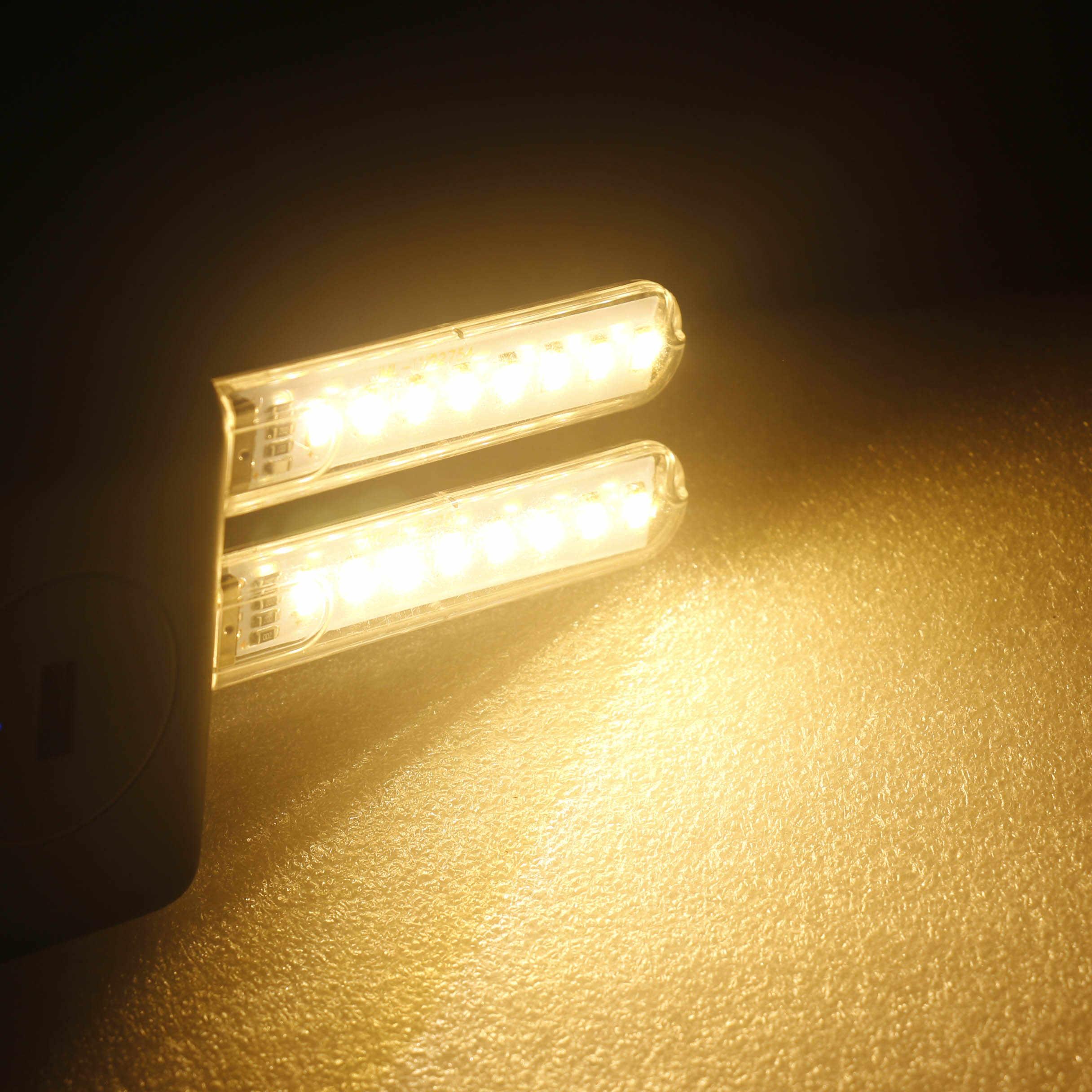 Mini 24 leds luz da noite 5 v usb 3 leds 8 livro de leitura de mesa luz da noite de acampamento luz do computador telefone móvel noite iluminação da estrada