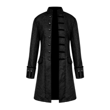 Mens Steampunk Jackets coat Long Sleeves Outwears Victorian Coat Top Vintage Trench men windproof